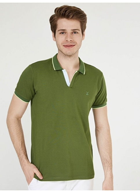 Xint Polo Yaka Tişört Yeşil